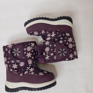 Toddler Purple Snowflake Winter Boots